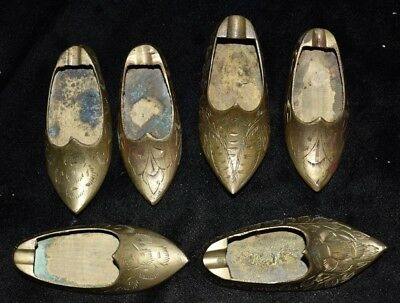 Lot of 6 Tin/ Bronze Shoes Interesting Authentic Relic 4C