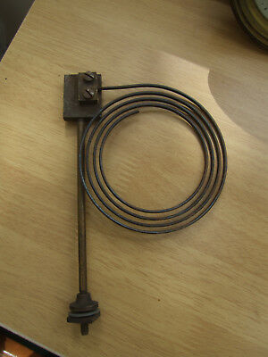 1# Old Vintage clock chime gong metal coil and fixing bolt spares repair parts