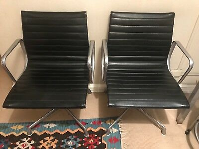Eames Aluminum Group Side Chair used