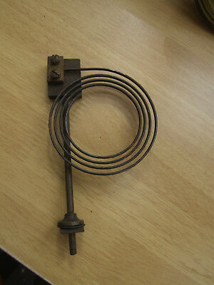 2# Old Vintage clock chime gong metal coil and fixing bolt spares repair parts
