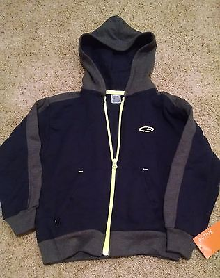 NWT Boys Champion Zip Up Blue Gray Long Sleeve Hoodie XS 4/5