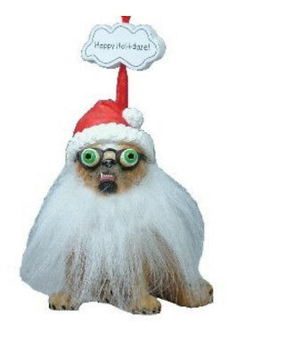Zelda Wisdom Happy Hol-I-Daze! Santa Bull dog Christmas Ornament