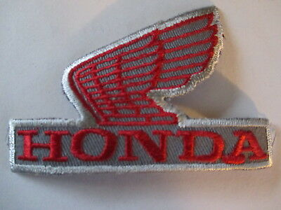 Old Original Vintage  Honda Wings Patch  Gray/Red