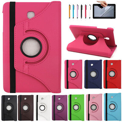 Fr Samsung Galaxy Tab A 8.0 SM-T380 T385 2017 Rotate Leather Smart Cover Case WQ