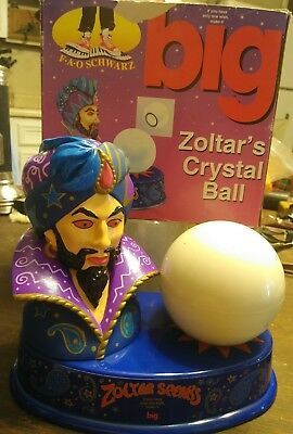 Vintage  ZOLTAR SPEAKS FORTUNE TELLER MAGIC 8 BALL ~TOM HANKS BIG MOVIE ~ RARE