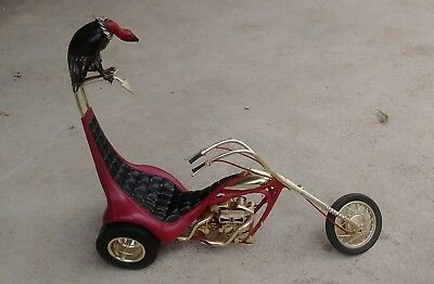 Vintage monogram king chopper motorcycle trike model