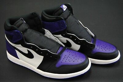 [555088 501] New Men's Air Jordan 1 Retro High Og Court Purple Black Sail Jo1373
