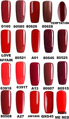 Bluesky Gel Polish Red Popular Most Wanted Nail Uv Led Soak Off,Any 2=File+Wipes