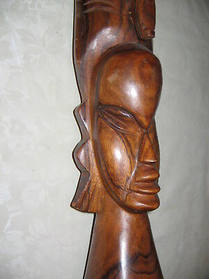 Vintage Large African Carved Wooden Figurine -Quality Item