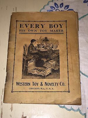 1880s Toy Crafts Instruction Book Manual How To Western Toy And Novelty Co