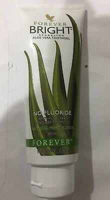 Forever Living BRIGHT Aloe Vera Tooth Gel - NATURAL MINT-No Fluoride - 130g