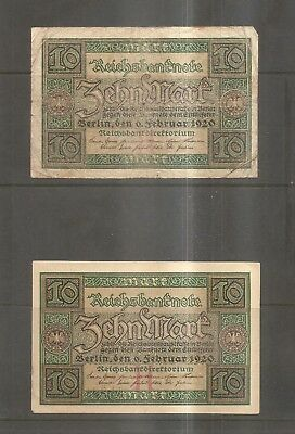 Europe - Five Older Banknotes From Germany.