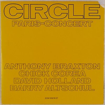 CIRCLE: Paris Concert, Anthony Braxton & Chick Corea ECM Free Jazz 2x LP NM