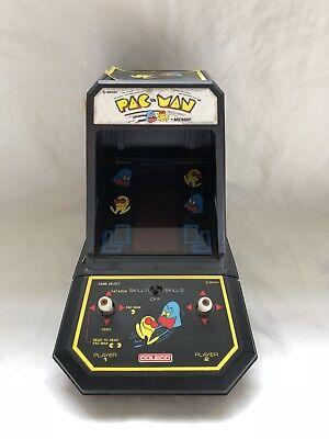 1981 Vintage PAC-MAN Coleco By Midway Table Top Arcade Game Works Great!