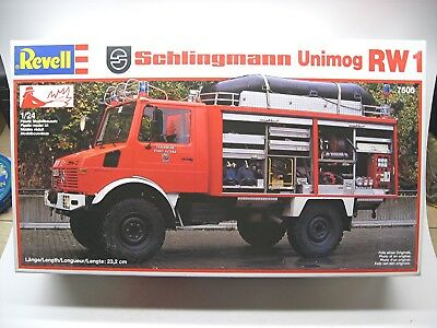 Revell Schlingmann Unimog RW 1 with accessory set 7506 truck kit #7505 from 1987