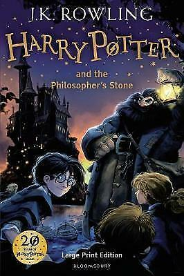 FHarry Potter and the Philosopher's Stone, Large Print edition by J. K. Rowling