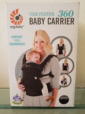 Ergobaby 360 4 Position Infant Child Baby Carrier Pure Black AUTHENTIC