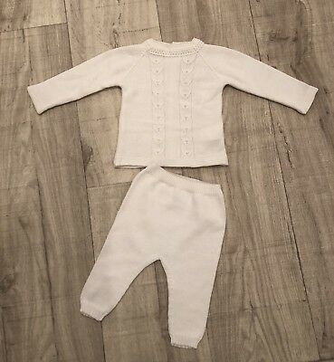 Knitted Spanish Baby Tracksuit 3 Months