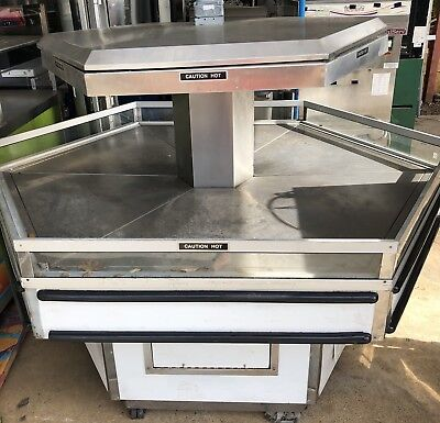 Custom Deli's Inc. 6' Single Tier Hexagon Hot Food Display island Merchandiser