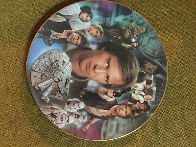 STAR WARS~1997 Hamilton Porcelain LE Plate~Han Solo~Movie Character Figure~