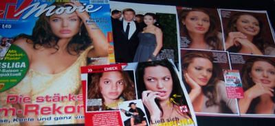 Angelina Jolie 45 pc German Clippings Full Pages Brad Pitt Cover 2006-2007