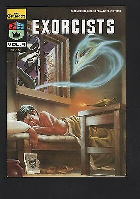 Crusaders #4 Exorcists Chick Publications F+ 6.5 White Pages