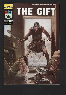 Crusaders #8 The Gift Chick Publications F/VF 7.0 White Pages