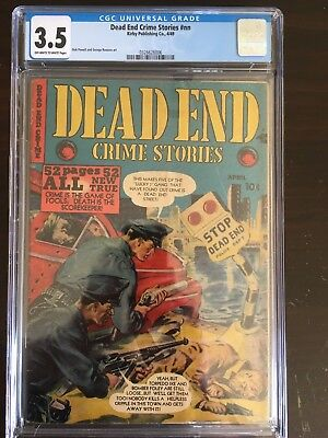 Dead End Crime Stories CGC 3.5 OW-W 1949 pre-code golden age Kirby Publishing