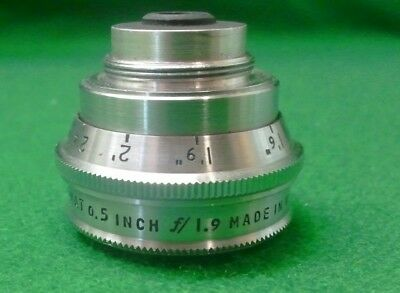 Bell and Howell Co.Super Comat 0.5inch f 1.9 lens