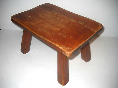"""Antique Cushman Colonial Vintage Maple 13"""" X 9"""" Foot Stool Restoration Or Parts"""