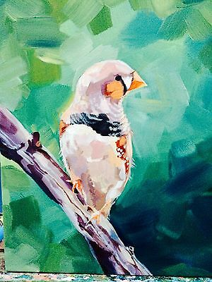 ORIGINAL ACRYLIC PAINTING MODERN CONTEMPORARY ABSTRACT UNIQUE CANVAS ART Finch