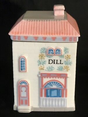 The Lenox Spice Village Fine Porcelain Spice Jar 1989 Dill Replacement