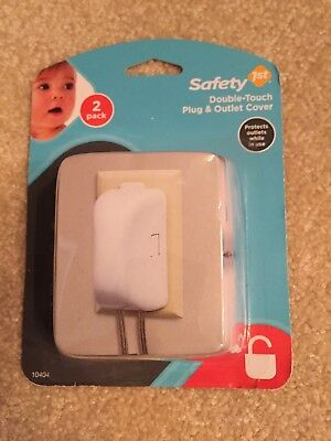 Safety 1st Double-Touch Plug & Outlet Cover 2 Pack Child Safety Baby Proof 10404