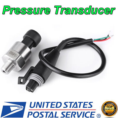 1/8 NPT Stainless Steel Pressure Transducer Sender Sensor for Oil Fuel Air Water
