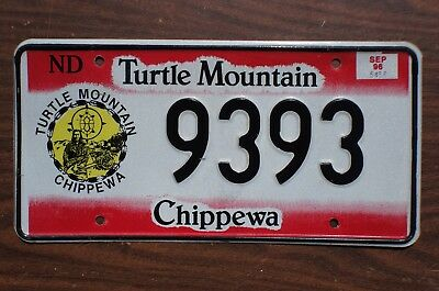 1996 Turtle Mountain Chippewa License Plate - Native Indian Tribal