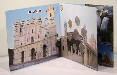 Paraguay 7 Coins Set 1992-2006 1 5 10 0 100 500 1000 Guaranies in Folder All Unc