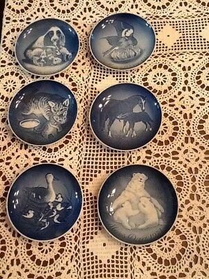 B & G Mother's Day Plates 1969-1974 Lot Of 6