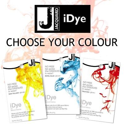 REDUCED TO CLEAR Jacquard iDye Natural Fabric Dye 14grams Choose Your Colour