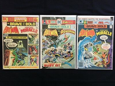 BRAVE AND THE BOLD Lot of 3 DC Comic Books - #112 126 128 - Batman!