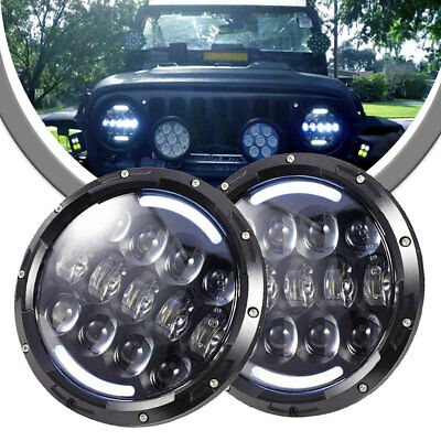 """H6024 7"""" Round Clear Projector Headlight With DRL for Kenworth T2000 W900 SE X2"""