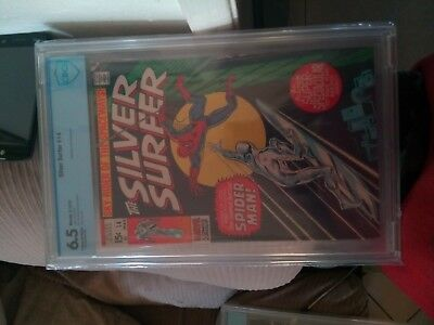 silver surfer 14 classic Spider-Man on cover.