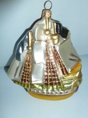 Kurt Adler Polonaise Christmas Ornament Sailing Ship Komozja