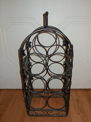 Black wine rack metal ( free standing )