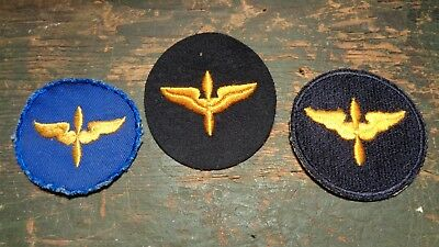 lot of WWII vintage AAF Air Corps Cadet sleeve patches embr wool & twill