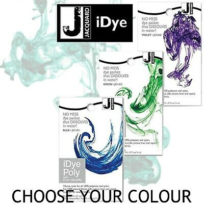 REDUCED TO CLEAR Jacquard iDye Poly Synthetic Fabric Dye 14g Choose Your Colour