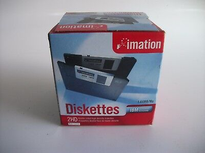 Imation - 3.5 DS-HD IBM Formatted - Black 25 Pack