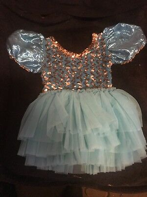 Vintage Little Girls Dance Outfit with Tutu