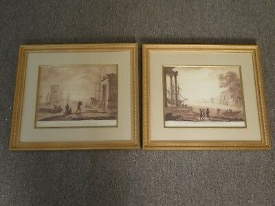 LF44516E: Pair of CHELSEA HOUSE Versailles Matted and Framed Pictures