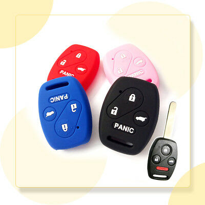 For Honda Accord Civic Keyless Silicone Car Key Fob Covers Case 4 Button