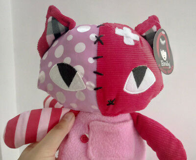 12inches Emily the Strange Patchwork pink Kitty stuffed plush toy new with tag